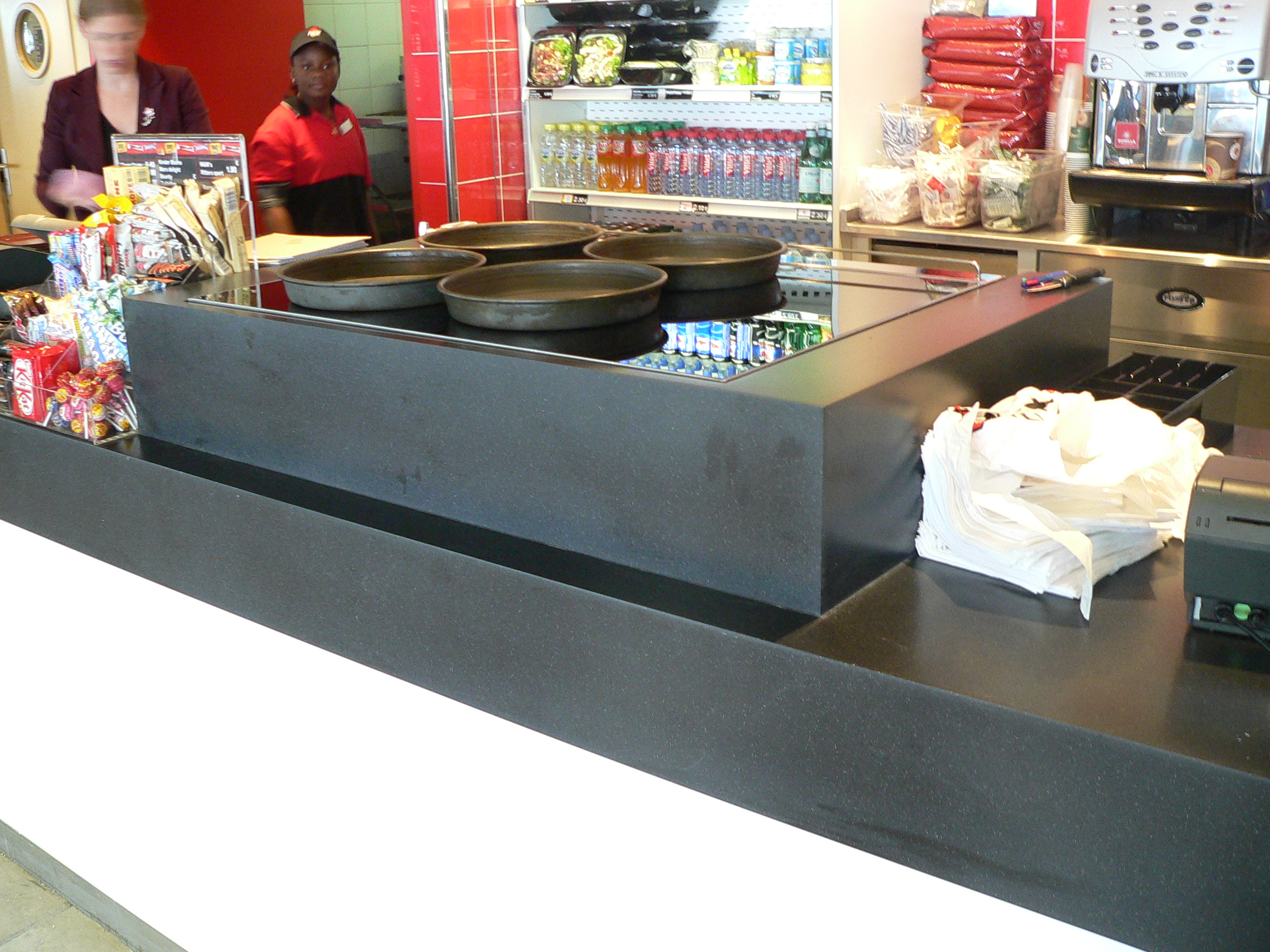 Solid surface restaurant
