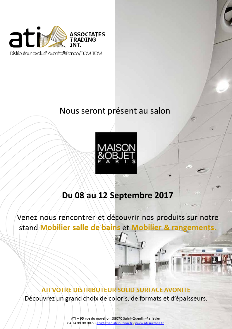 Distributeur avonite solid surface r sine de synth se for Salon maison et objet 2017