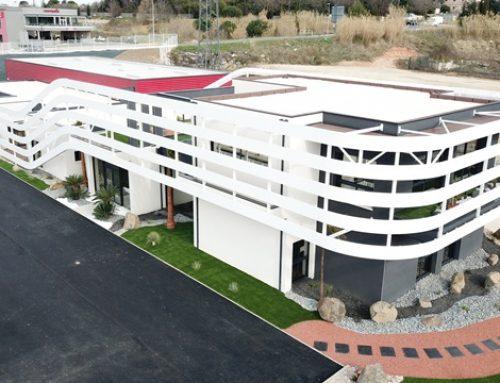 Réalisation LCCA : Façade du nouveau showroom LACIN à Béziers